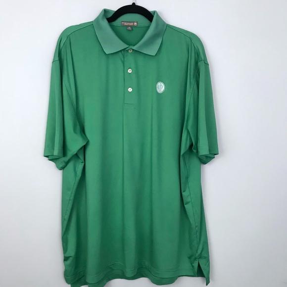 574240648 Peter Millar XL Summer Comfort Golf Polo Green. M_5ac4e78d61ca10d5e95859a4